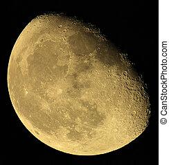 ukraine, région, sky., lune, sombre, donetsk, phase