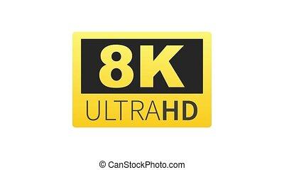 ultra, 8k, hd, mené, technology., label., élevé, tã©lã©viseur, graphics., mouvement, display.