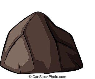 une, gris, rocher