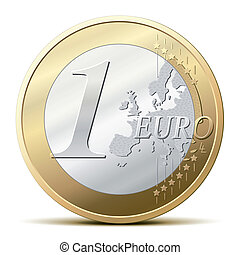 une, monnaie, euro