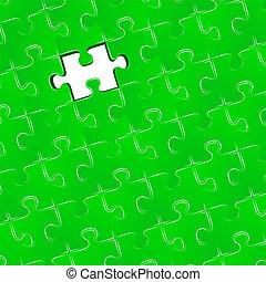 une, puzzle, morceau puzzle, disparu