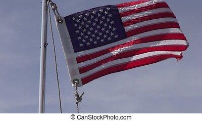 uni, américain, 4ème, etats, drapeaux