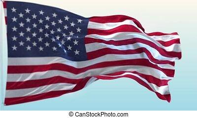 uni, arrière-plan., drapeau, faire boucle, américain, onduler, etats, mouvement, america.