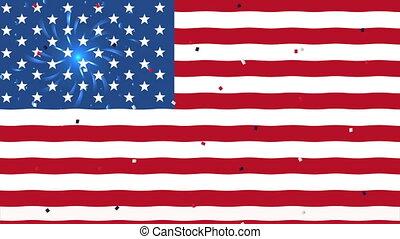 uni, drapeau, etats, amérique, fond