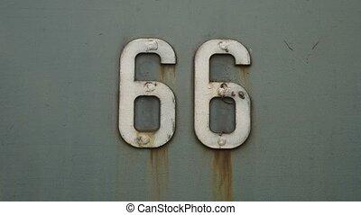 uni, vieux, 66, symbole, fond, texture, signe, etats, fer, amérique, route