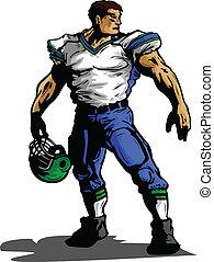 uniforme football, illustration, joueur, vecteur