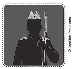 uniforme, silhouette, garçon