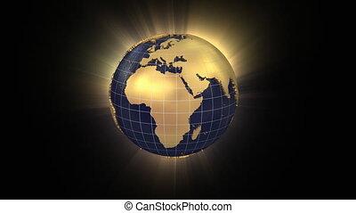 union, rotation, unfolds, globe, européen