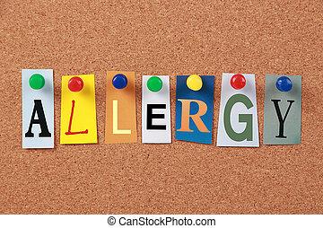 unique, allergie, mot