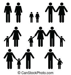 unique, familles, deux, parent