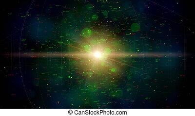 univers, boucle, numérique