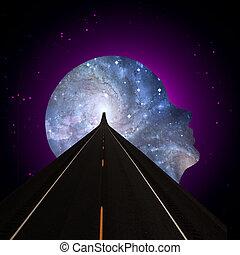universel, esprit, route