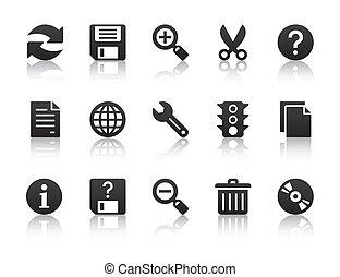 universel, logiciel, icônes