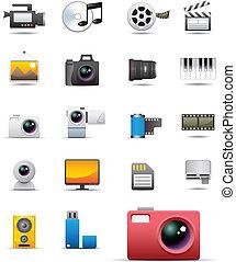 universel, média, icônes