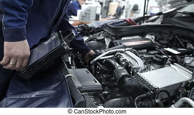 updated, voiture, firmware, station., personnel, logiciel