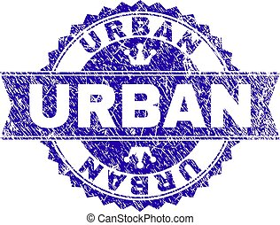 urbain, grunge, timbre, textured, cachet, ruban