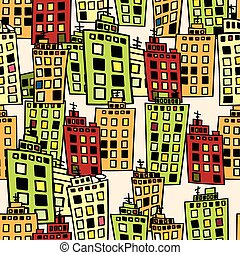 urbain, homes., bâtiments., seamless, texture, dense