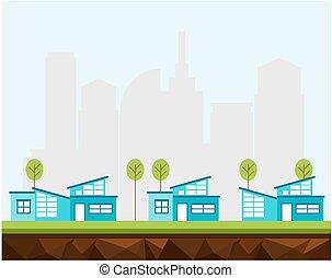urbain, maisons