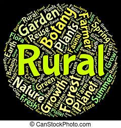 urbain, non, mot, agraire, moyens, rural