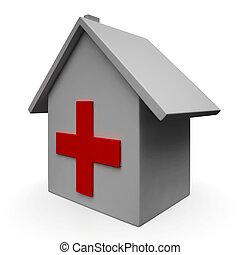 urgence, clinique médicale, icône, hôpital, spectacles