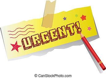urgent, note