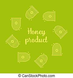urticaire, couronne, gabarit, aviateur, abeille