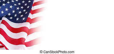 usa, fond blanc, drapeau