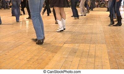 usa, gens, danse, danse folklorique, style, pays, ligne, cow-boy, événement