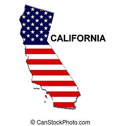 usa, raies, état, conception, étoiles, californie