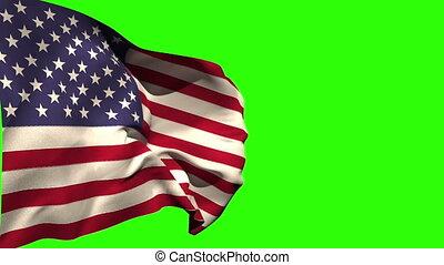 usa, souffler, grand, drapeau national