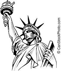 usa, symbole, nyc, liberté, statue