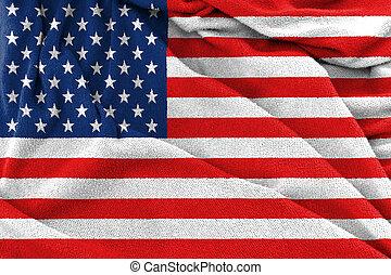 usa, tissu, drapeau, texture, national