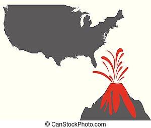 usa, volcan, carte