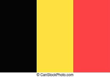 usage, civil, pays, national, (black, color), drapeau, yello, belgique, rouges