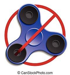 usage, interdit, ou, fileur, fidget, permis, pas, concept.