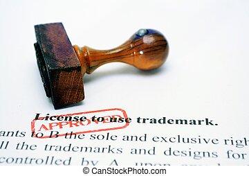 usage, marque déposée, licence