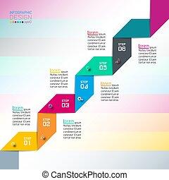 usage, moderne, conception, gabarit, infographics