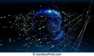 usage, réseau, média, global, il technologie, arrière-plan., connections., boîte, communication, vous, ou, social