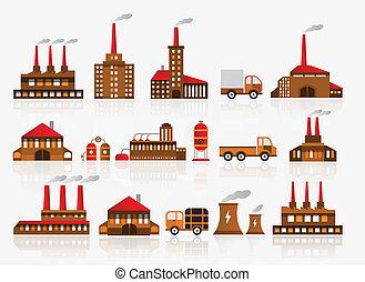 usine, icônes