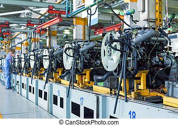 usine voiture, montage