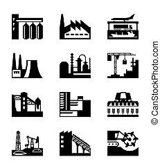 usines industrielles, différent