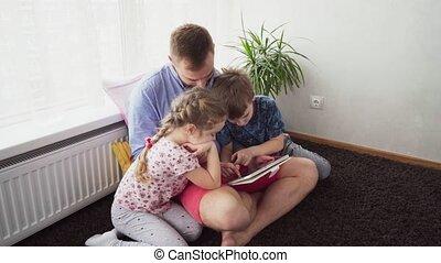 utilisation, engendrez enfants, tablette