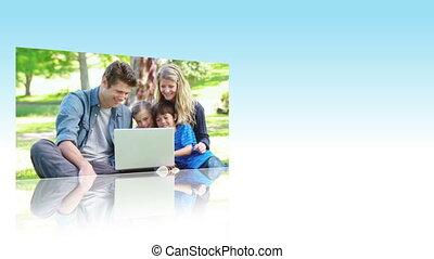 utilisation, portables, familles, parc