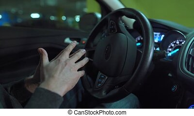 utilisation, self-parking, autopilot, homme, automatisé, lot, innovateur, voiture, stationnement, conduite