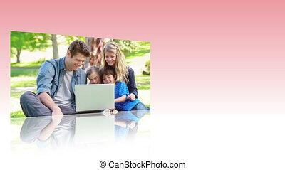 utilisation, vidéos, interne, familles