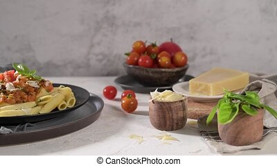 végétarien, bolognese, lentille