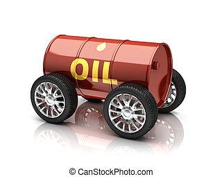 véhicule, carburants pétrole