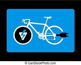 vélo, électrique, figure