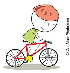 vélo, gosse