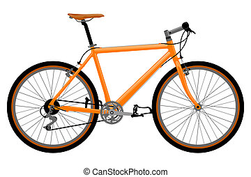 vélo, illustration.